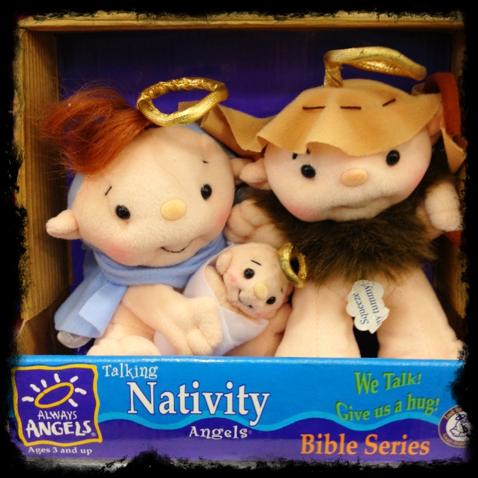 "These are the scariest fucking ""Nativity Angels,"" no, the scariest fucking ANYTHING I've ever seen. These would turn the Pope into an atheist."