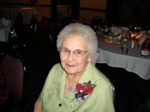 Grandma shutting the place down at my sister's wedding only six years ago.