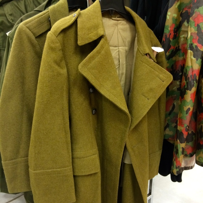 This Romanian Army overcoat is made out of perhaps the itchiest substance I've ever touched. Imagine sandpaper and steel wool. But rougher.