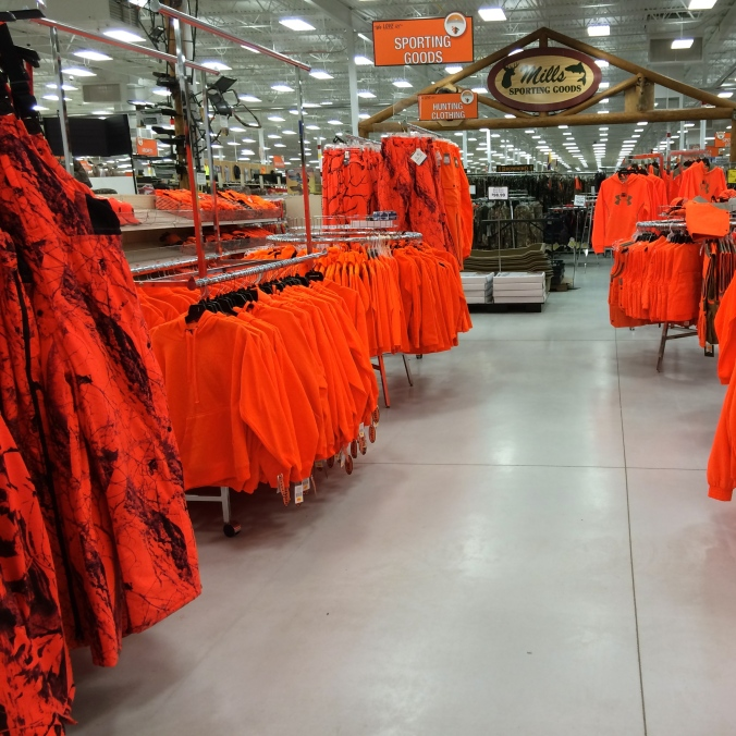 That is a lot of blaze orange. Enough to burn out your retinas.